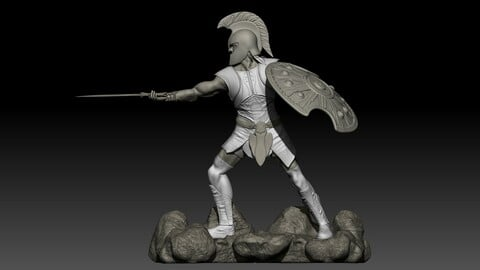 Achilles Warrior Printable Model