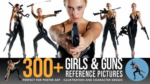 300+ Girls & Guns Reference Pictures
