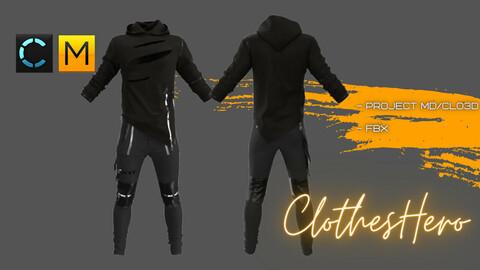 Rock man (sweatshirt + pants)
