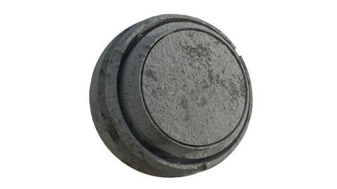 PBR concrete material in 4K