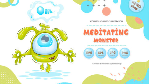 Meditating monster