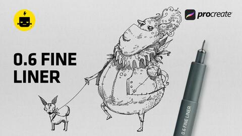Cheap Fine-liner Brush for Procreate