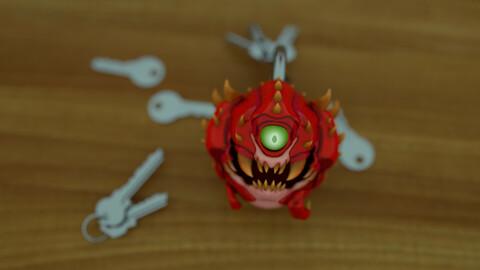 Doom Cacodemon Keychain