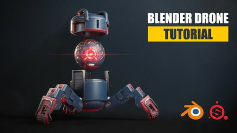 Blender Drone Tutorial - Learn Blender & Substance Painter
