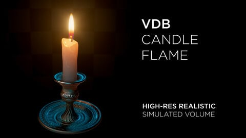 High-Res VDB Candle Flame