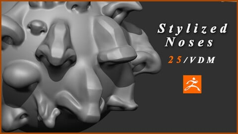 Stylized Noses - 25 VDM Brushes