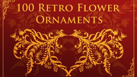100 Retro Flower Ornaments