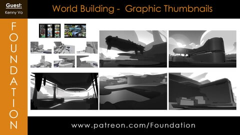 Foundation Art Group - World Building - Graphic Thumbnails with Kenny Vo
