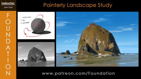 Foundation Art Group - Painterly Landscape Study with John Park