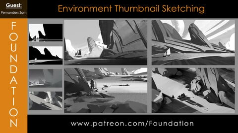 Foundation Art Group - Environment Thumbnail Sketching with Fernanders Sam