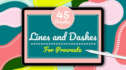 Lines & Dashes Procreate Brushes