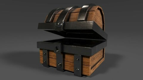 Low-Poly Chest (Game Ready Model)