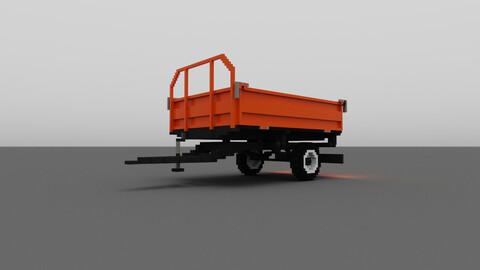 Voxel  Bottom dump truck 3D model