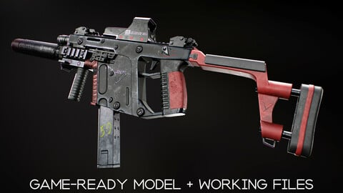 Kriss Vector - Game-Ready Model + Working Files