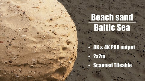 Beach Sand Baltic Sea - Photogrammetry