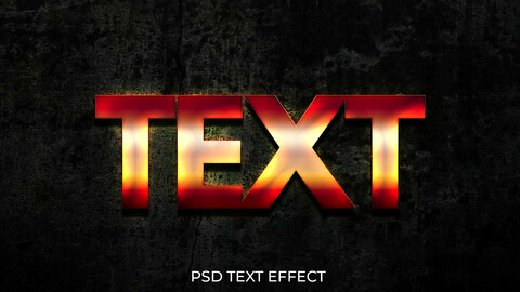 Glowing Fire PSD Text Effect