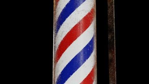 Barber Pole - High Quality 3D model