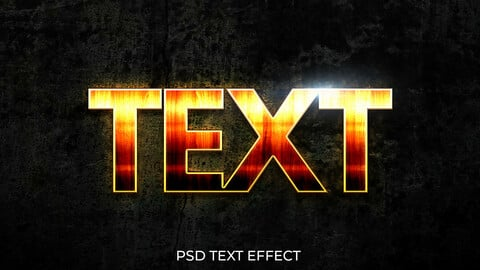Glowing Fire PSD Text Effect 02