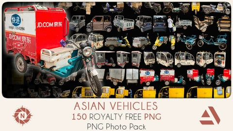 PNG Photo Pack: Asian Vehicles