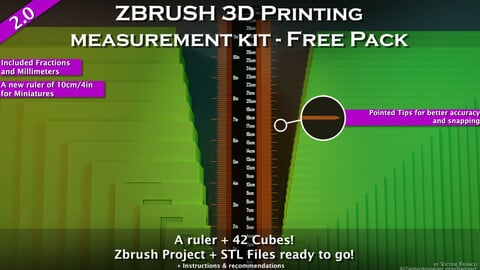 Zbrush 3D Printing Measurement Kit - Free Pack