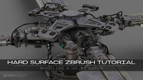 Hard Surface ZBrush Tutorial // Modeling A UH-60 Rotor