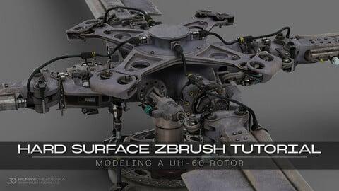 Hard Surface ZBrush Tutorial // Modeling A UH-60 Rotor