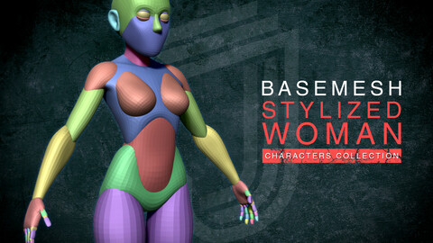 Stylized base mesh women