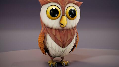 Cartoon Owl Animated 3D Model