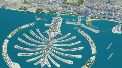 Dubai City UAE 3D Model