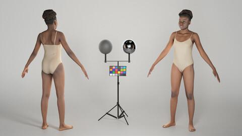Beautiful woman in bodysuit in A-pose 269