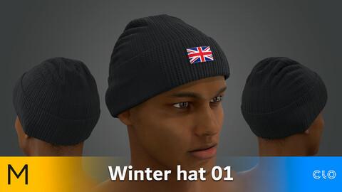 Winter Hat 01 Marvelous Designer, CLO3D