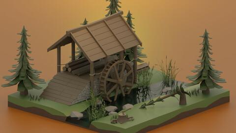 Hydraulic sawmill