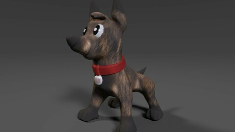 Low-Poly Chase Dog (Game Ready Character)