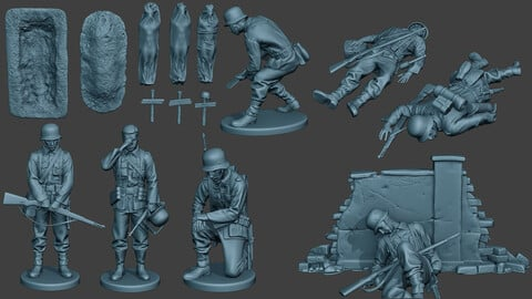 German soldier ww2 G6 Pack1