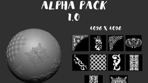 10 Alpha and brushes ornaments mandalas Texture