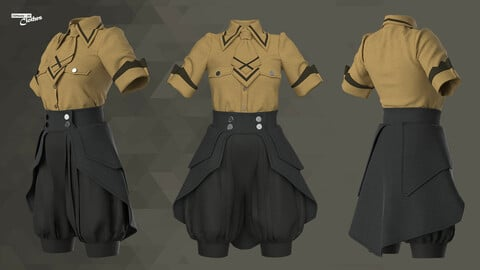 Female Casual Uniform  - 66 Marvelous Designer, Clo3D