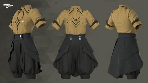 Female Casual Uniform  - 66 Marvelous Designer, Clo3D