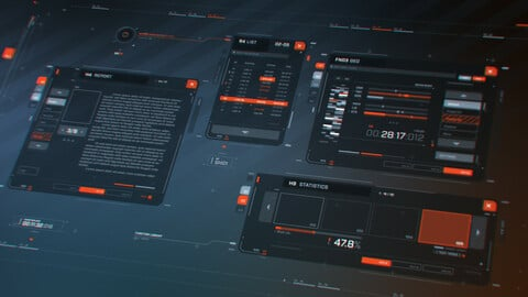 FUI / UI - Screen graphics / Menu set