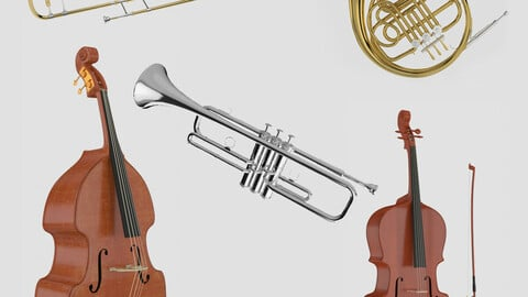 3D model Orchestra Musical Instruments Collection