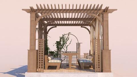 Modern Wooden Pergola 04