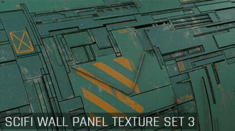 Sci Fi Wall Panel Texture Set 3