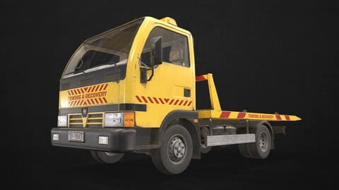 Light Truck Tow - Low Poly