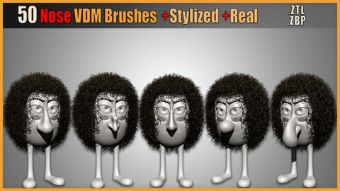 50 Nose VDM Brushes +Stylized +Real