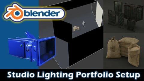 Blender Studio Lighting Portfolio Setup Free Download