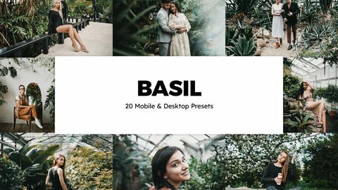20 Basil LUTs and Lightroom Presets
