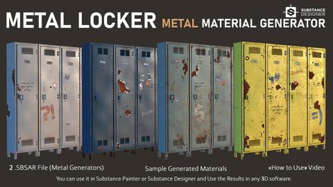Metal Locker - Old Metal Material Generator