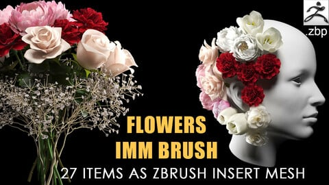 Flowers IMM brush + video