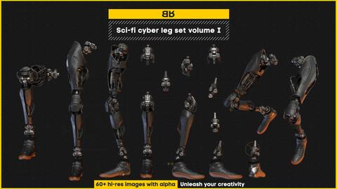 Sci-fi cyber leg images set volume I