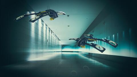 3d Drone sci-fi