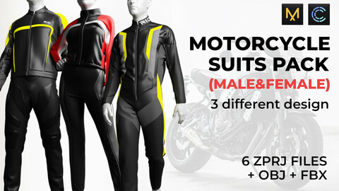 MOTORCYCLE SUITS PACK (Male & female)
